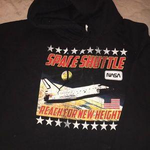 cropped NASA hoodie